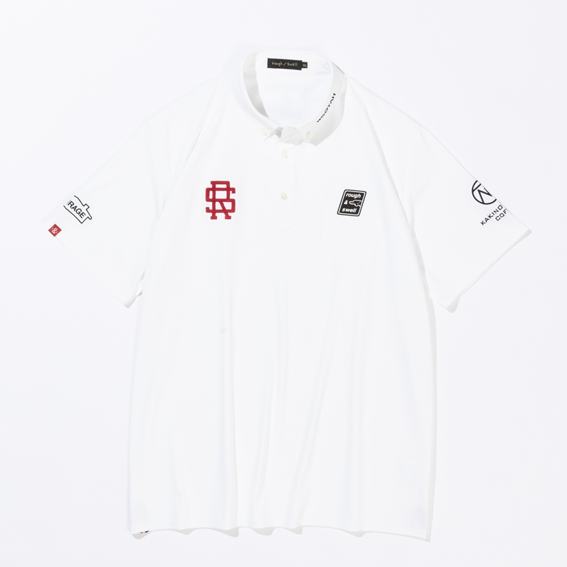 rough & swell 2021 TOUR POLO ホワイト
