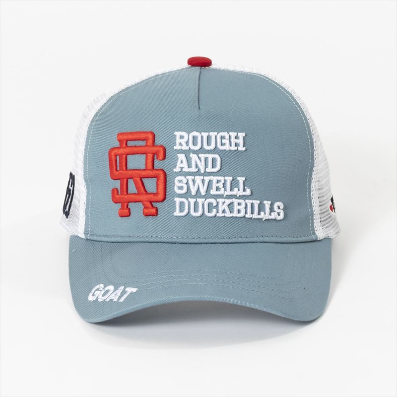 rough & swell TOUR MESH CAP ブルーグレー