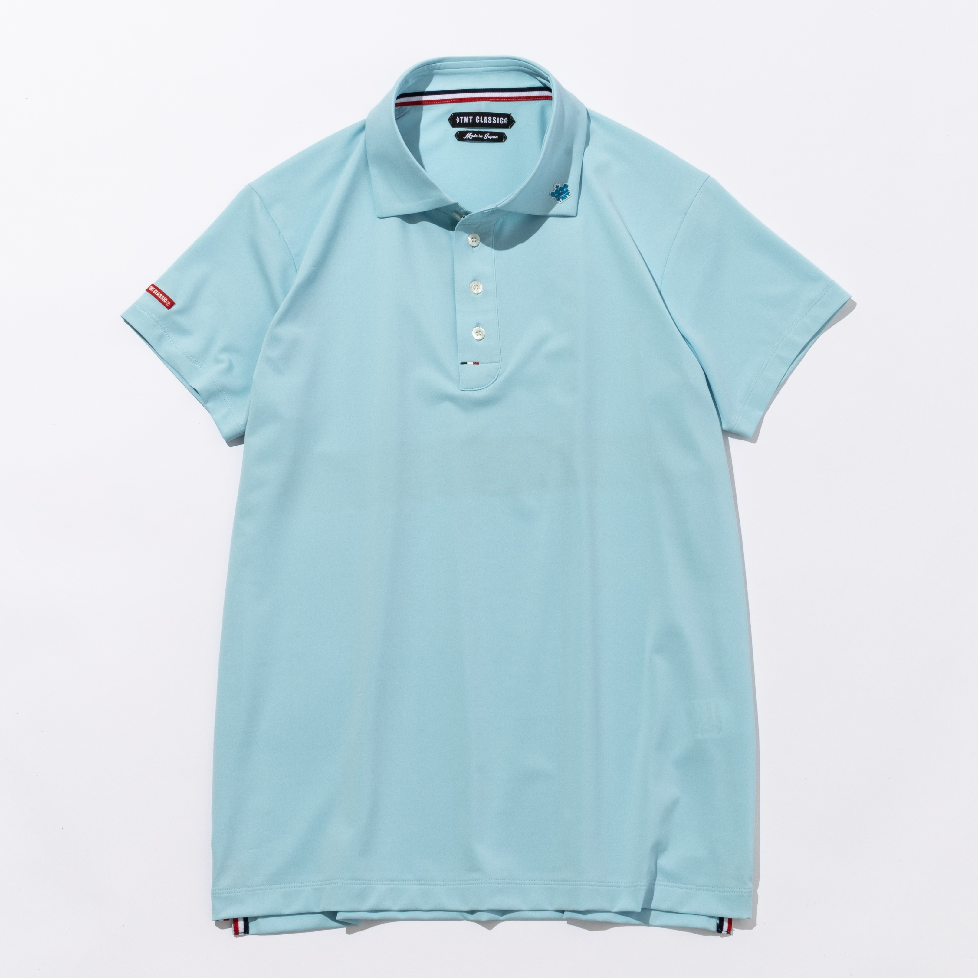 TMT Classic FUNCTIONAL STRETCH JERSEY POLO SHIRT サックスブルー